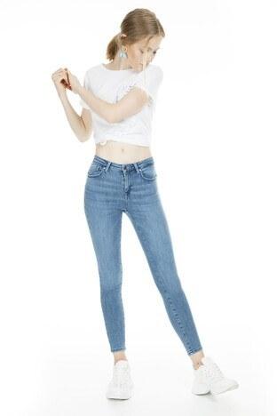 Only - Only Skinny Onlpower Jeans Bayan Kot Pantolon 15169892 MAVİ