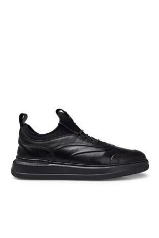 Pierre Cardin - Pierre Cardin Deri Erkek Ayakkabı 073524132E SİYAH