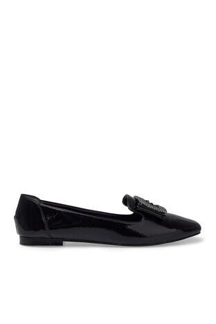 Pierre Cardin - Pierre Cardin Parlak Bayan Ayakkabı PC-50750 SİYAH