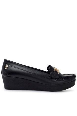 Pierre Cardin - Pierre Cardin Tokalı Bayan Ayakkabı PC-50803 SİYAH