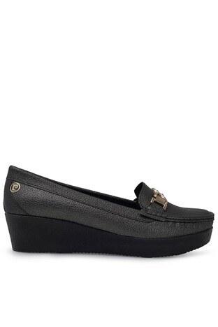 Pierre Cardin - Pierre Cardin Tokalı Bayan Ayakkabı PC-50803P PLATİN