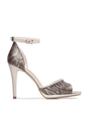 Pierre Cardin - Pierre Cardin Topuklu Bayan Ayakkabı 54033 ALTIN