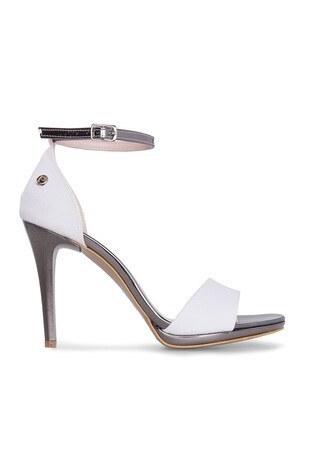 Pierre Cardin - Pierre Cardin Topuklu Bayan Ayakkabı 54071 BEYAZ