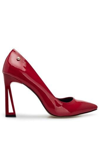 Pierre Cardin Topuklu Rugan Bayan Ayakkabı PC-50507 Kırmızı-Rugan