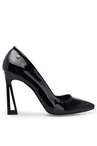 Pierre Cardin Topuklu Rugan Bayan Ayakkabı PC-50507 SİYAH-RUGAN