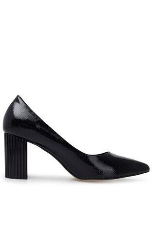 Pierre Cardin - Pierre Cardin Topuklu Rugan Bayan Ayakkabı PC-50741P SİYAH