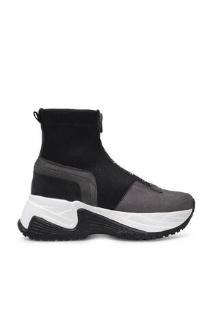 Pierre Cardin - Pierre Cardin Yüksek Bilekli Bayan Ayakkabı PC-30317 GRİ