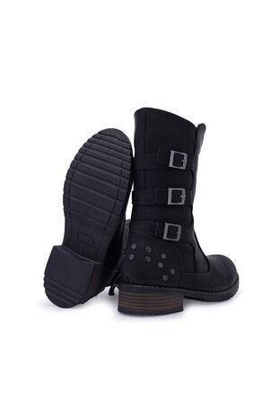 Polaris Fermuarlı Kız Çocuk Çizme 92510709F SİYAH