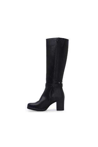 Polaris Fermuarlı Topuklu Bayan Çizme 92314411Z SİYAH