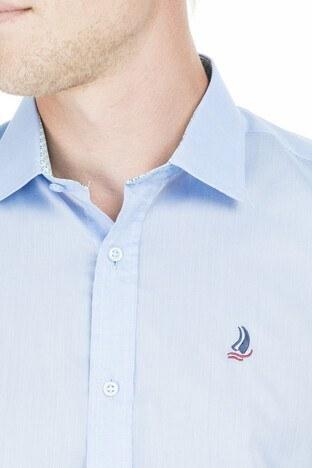 Quter&Shirt Kısa Kol Erkek Gömlek 5221001 MAVİ
