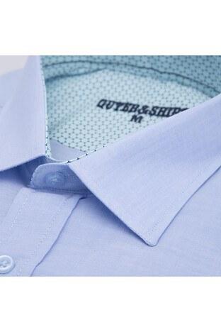 Quter&Shirt Kısa Kol Erkek Gömlek 5221002 MAVİ