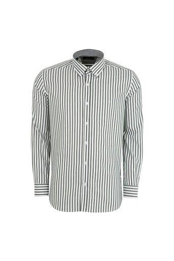 SABRİ ÖZEL Erkek Gömlek 4184209 HAKİ-BEYAZ