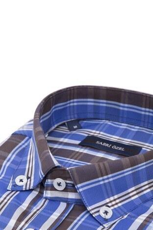 Sabri Özel Erkek Kısa Kollu Gömlek 4185022 LACİVERT