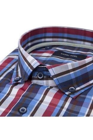 Sabri Özel Erkek Kısa Kollu Gömlek 4186013 KIRMIZI