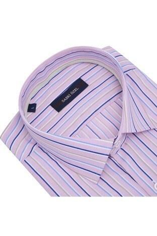 Sabri Özel Erkek Kısa Kollu Gömlek 4186015 K PEMBE