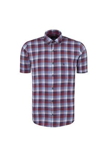 SABRİ ÖZEL Erkek Kısa Kollu Gömlek 4186020 KIRMIZI