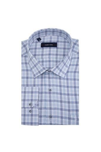 Sabri Özel Erkek Uzun Kollu Gömlek 4183068 MAVİ