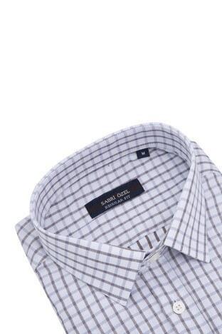 Sabri Özel Kısa Kollu Erkek Gömlek 3902003 BEYAZ