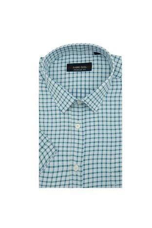 Sabri Özel - Sabri Özel Kısa Kollu Erkek Gömlek 3902005 BEYAZ