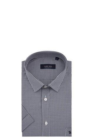 Sabri Özel - Sabri Özel Kısa Kollu Erkek Gömlek 3902016 SİYAH