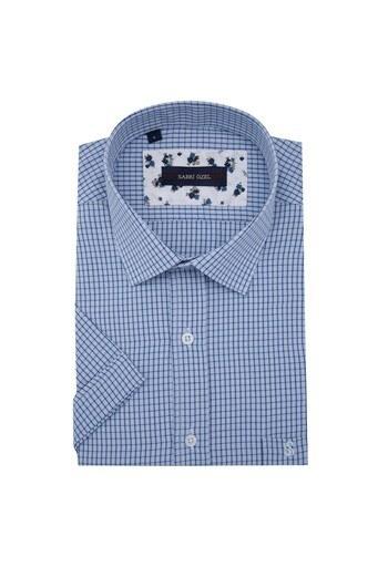 Sabri Özel Kısa Kollu Erkek Gömlek 4183702 MAVİ