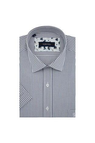 Sabri Özel - Sabri Özel Kısa Kollu Erkek Gömlek 4183709 BEJ