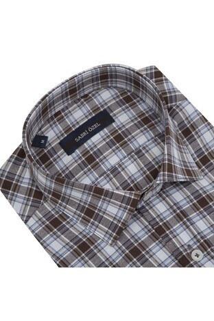 Sabri Özel Kısa Kollu Erkek Gömlek 4183806 KAHVE