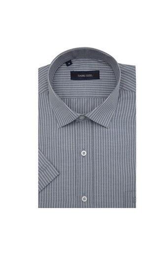 Sabri Özel Kısa Kollu Erkek Gömlek 4183826 GRİ