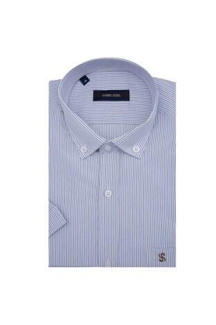 Sabri Özel - Sabri Özel Kısa Kollu Erkek Gömlek 4184014 BEYAZ