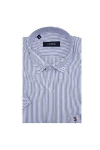 Sabri Özel Kısa Kollu Erkek Gömlek 4184014 BEYAZ