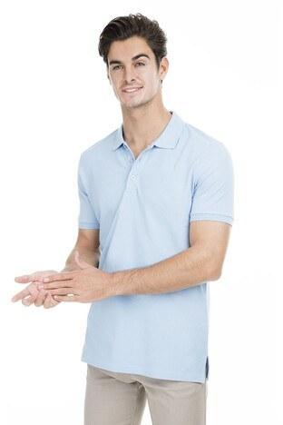 Sabri Özel - Sabri Özel Polo Erkek T Shirt T446688 AÇIK MAVİ