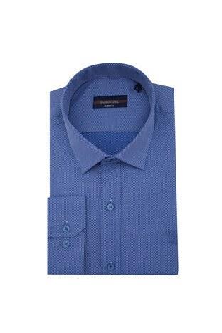 Sabri Özel - Sabri Özel Slim Fit Erkek Uzun Kollu Gömlek 5431588 İNDİGO
