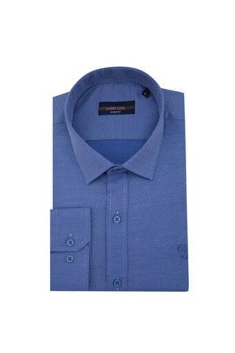 Sabri Özel Slim Fit Erkek Uzun Kollu Gömlek 5431588 İNDİGO