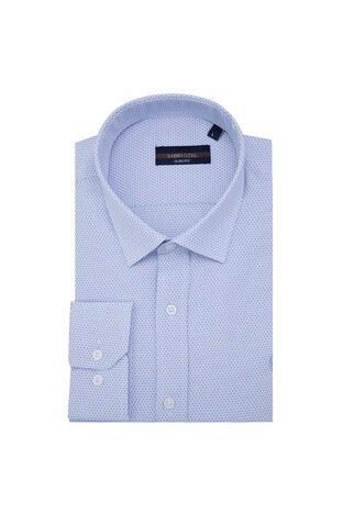 Sabri Özel - Sabri Özel Slim Fit Erkek Uzun Kollu Gömlek 5431640A AÇIK MAVİ