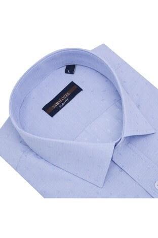Sabri Özel Slim Fit Erkek Uzun Kollu Gömlek 5431640B AÇIK MAVİ