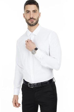 Sabri Özel Slim Fit Erkek Uzun Kollu Gömlek 5431701 BEYAZ