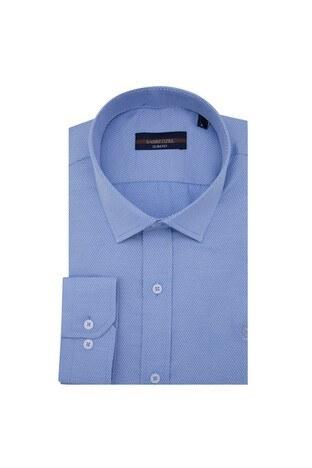 Sabri Özel - Sabri Özel Uzun Kollu Slim Fit Gömlek Erkek Uzun Kollu Gömlek 5431702 MAVİ