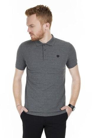 Sabri Özel - Sabri Özel T Shirt Erkek Polo 230009106 KOYU GRİ