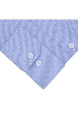 Sabri Özel Uzun Kollu Slim Fit Gömlek Erkek Uzun Kollu Gömlek 5431615 AÇIK MAVİ
