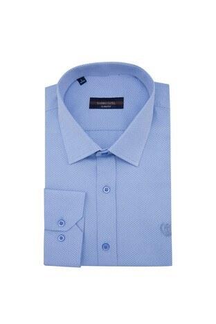 Sabri Özel - Sabri Özel Uzun Kollu Slim Fit Gömlek Erkek Uzun Kollu Gömlek 5431627A MAVİ