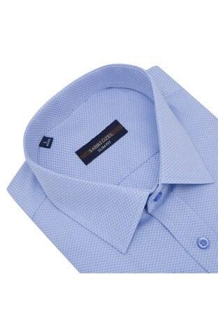 Sabri Özel Uzun Kollu Slim Fit Gömlek Erkek Uzun Kollu Gömlek 5431627A MAVİ