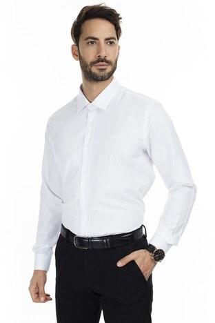 Sabri Özel - Sabri Özel Uzun Kollu Slim Fit Gömlek Erkek Uzun Kollu Gömlek 5431629 BEYAZ