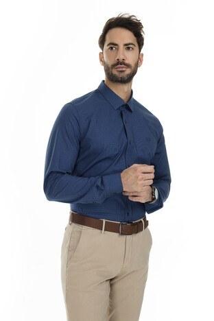 Sabri Özel - Sabri Özel Uzun Kollu Slim Fit Gömlek Erkek Uzun Kollu Gömlek 5431630 LACİVERT
