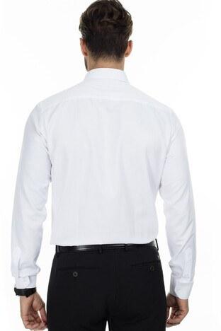 Sabri Özel Slim Fit Gömlek Erkek Uzun Kollu Gömlek 5431631 BEYAZ