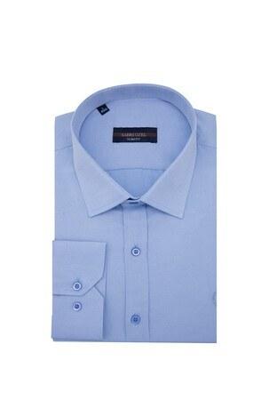 Sabri Özel - Sabri Özel Slim Fit Gömlek Erkek Uzun Kollu Gömlek 5431631 MAVİ