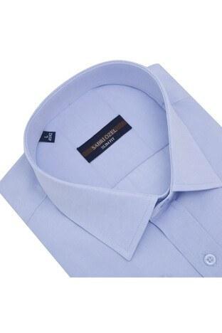 Sabri Özel Uzun Kollu Slim Fit Gömlek Erkek Uzun Kollu Gömlek 5431632 AÇIK MAVİ