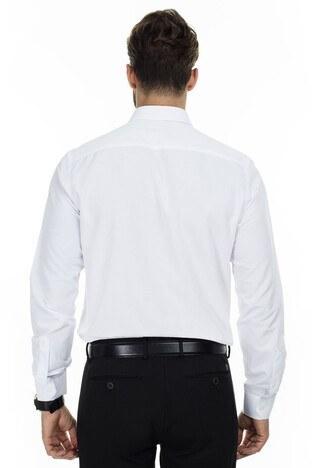 Sabri Özel Uzun Kollu Slim Fit Gömlek Erkek Uzun Kollu Gömlek 5431632 BEYAZ