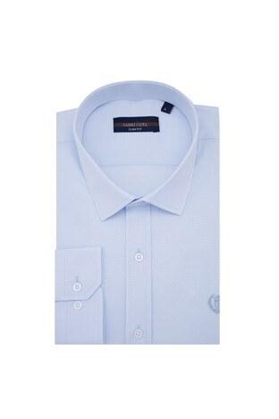 Sabri Özel - Sabri Özel Uzun Kollu Slim Fit Gömlek Erkek Uzun Kollu Gömlek 5431633 AÇIK MAVİ