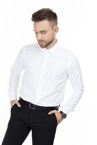 Sabri Özel Uzun Kollu Slim Fit Gömlek Erkek Uzun Kollu Gömlek 5431633 BEYAZ