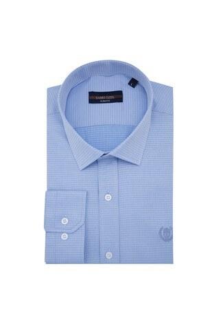Sabri Özel - Sabri Özel Uzun Kollu Slim Fit Gömlek Erkek Uzun Kollu Gömlek 5431634 AÇIK MAVİ